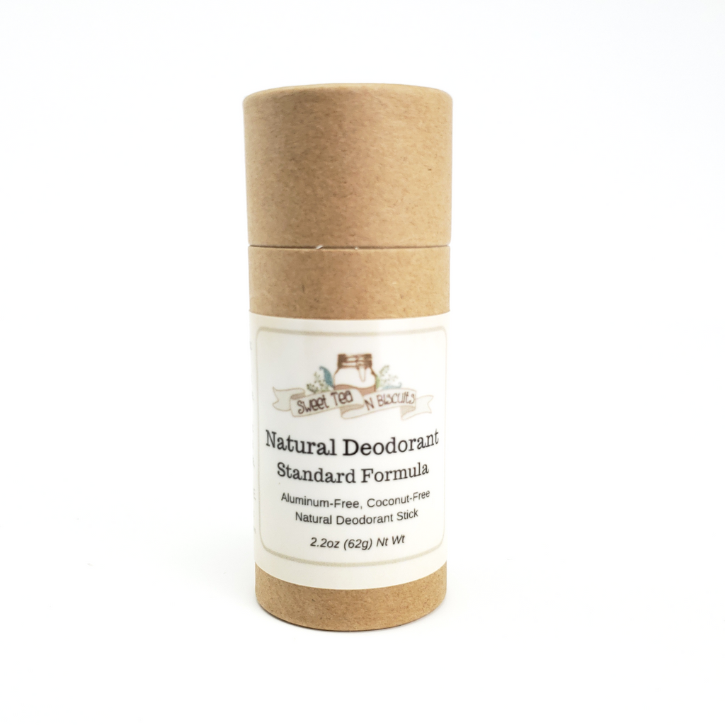 ECO TUBES - Natural, Aluminum-Free Deodorant - Regular/Standard Formula-Sweet Tea 'N Biscuits