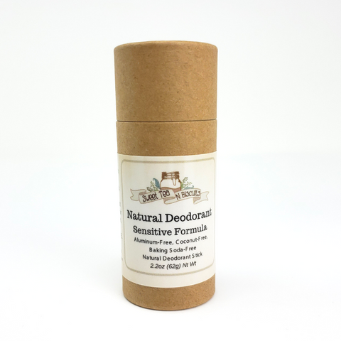 ECO TUBES - Natural, Aluminum-Free Deodorant - Sensitive Formula, No Baking Soda-Sweet Tea 'N Biscuits