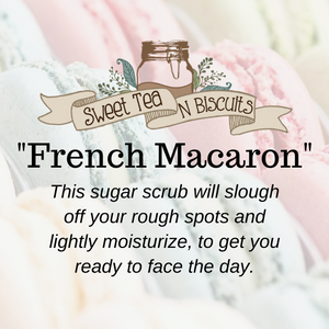 French Macaron - Emulsified Sugar Scrub Body Polish-Sweet Tea 'N Biscuits