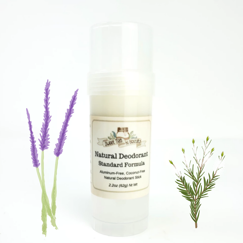 Lavender Tea Tree - Natural, Aluminum-Free Deodorant - Regular/Standard Formula-Sweet Tea 'N Biscuits