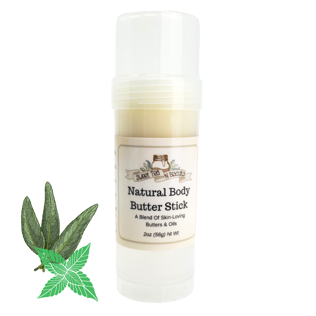 Natural Body Butter Stick - Basil Sage & Mint Scented-Sweet Tea 'N Biscuits