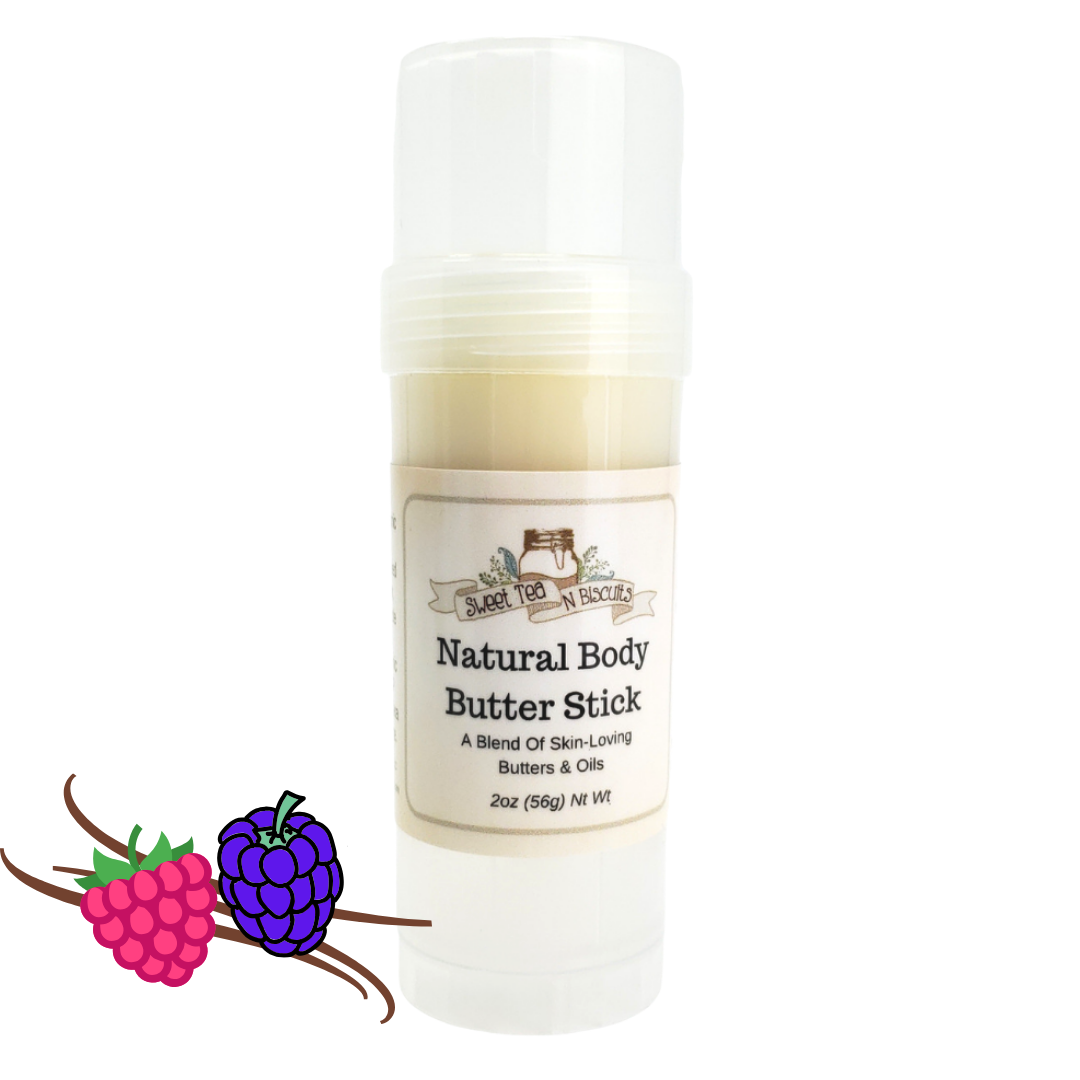 Natural Body Butter Stick - Black Raspberry Vanilla Scented-Sweet Tea 'N Biscuits