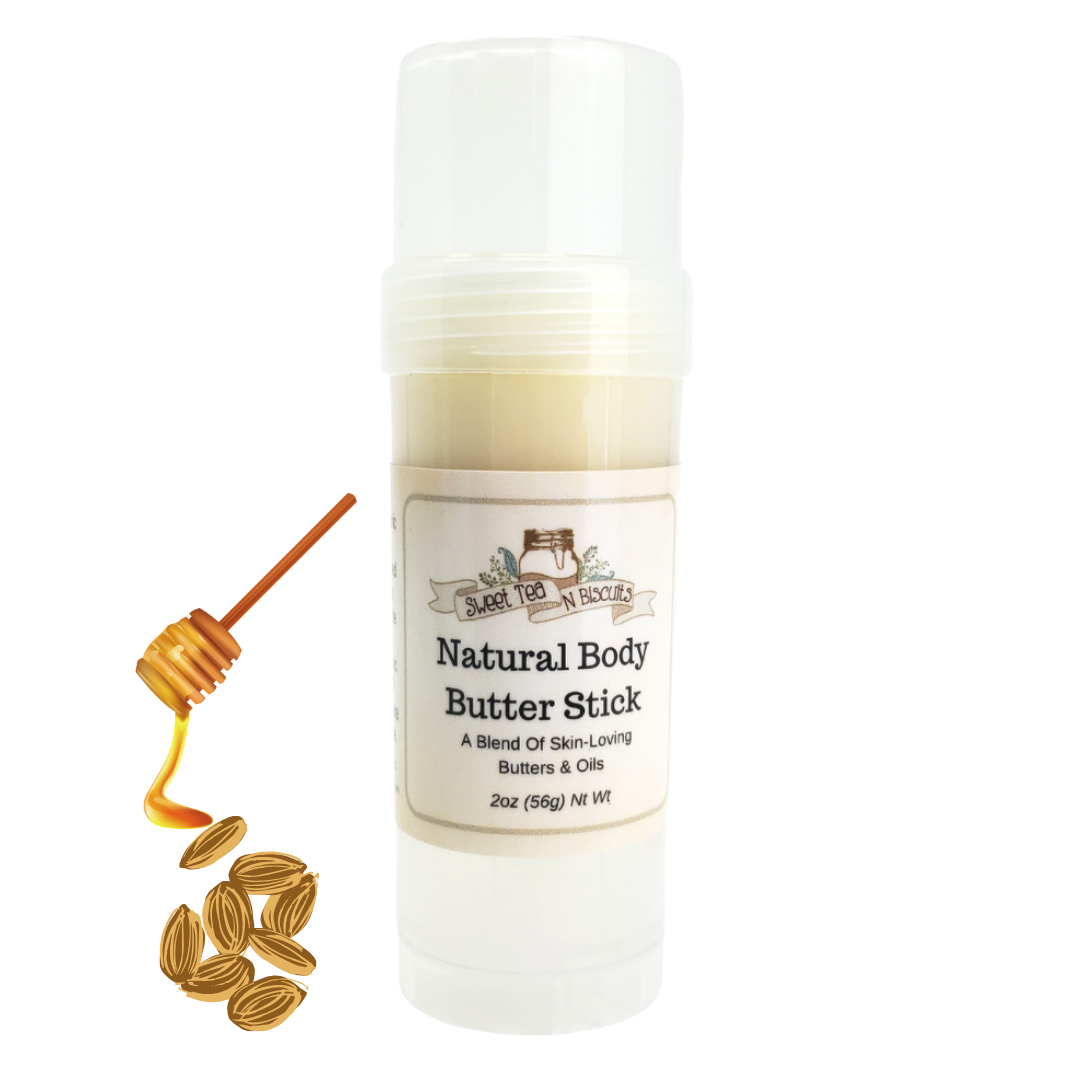 Natural Body Butter Stick - Honey Almond Scented-Sweet Tea 'N Biscuits