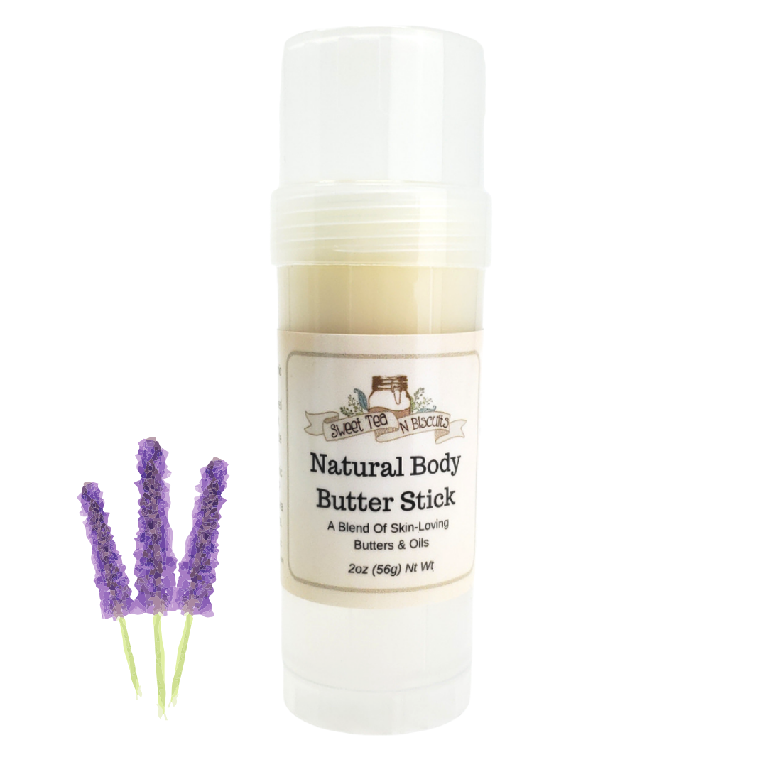 Natural Body Butter Stick - Lavender Essential Oil Scented-Sweet Tea 'N Biscuits