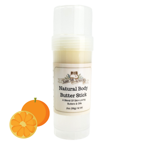 Natural Body Butter Stick - Sweet Orange Essential Oil Scented-Sweet Tea 'N Biscuits