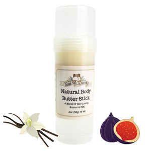 Natural Body Butter Stick - Vanilla Fig Scented-Sweet Tea 'N Biscuits