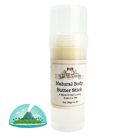 Natural Body Butter Stick - Volcanic Scented-Sweet Tea 'N Biscuits