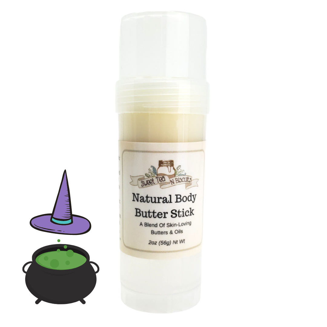 Natural Body Butter Stick - Witches Britches Scented-Sweet Tea 'N Biscuits