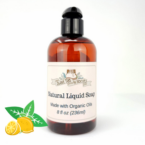 Natural Liquid Soap - Lemon Spearmint Essential Oil Scented-Sweet Tea 'N Biscuits