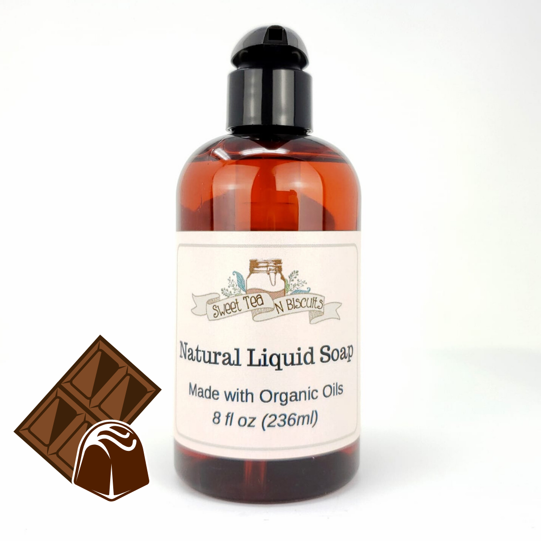 Natural Liquid Soap - Sensual Chocolate-Sweet Tea 'N Biscuits