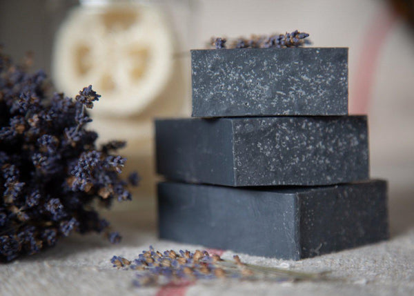 Obsidian - Activated Charcoal & Essential Oil Handmade Cold Process Soap-Sweet Tea 'N Biscuits