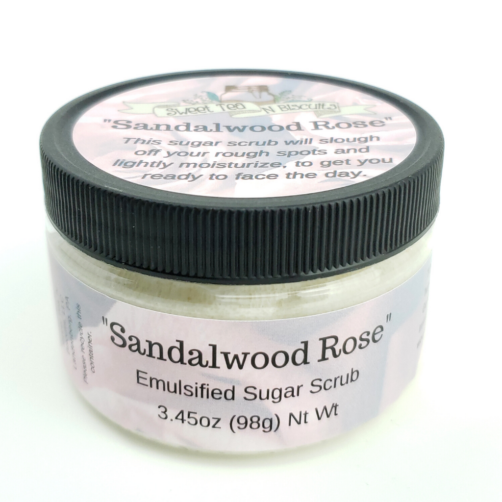 Sandalwood Rose - Emulsified Sugar Scrub Body Polish-Sweet Tea 'N Biscuits