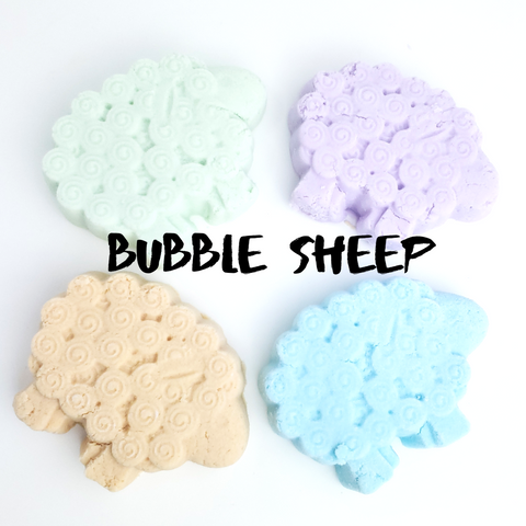 Volcanic - Bubble Sheep - Solid Bubble Bath In Convenient Bars-Sweet Tea 'N Biscuits