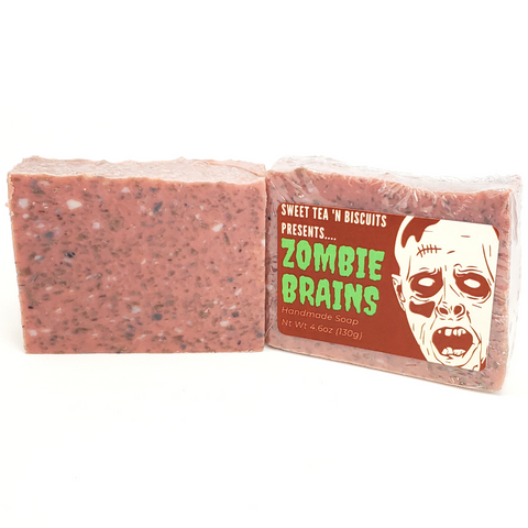 Zombie Brains - Limited Edition Cold Process Handmade Soap-Sweet Tea 'N Biscuits