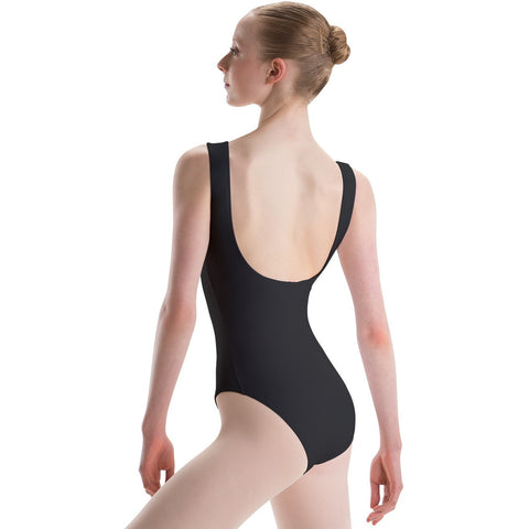 Child Pinch Front Empire Sweetheart Leotard