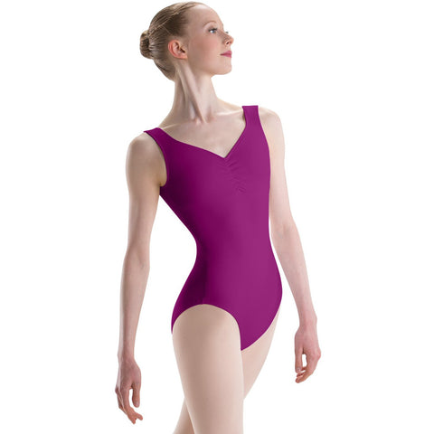Adult Pinch Front Empire Sweetheart Leotard