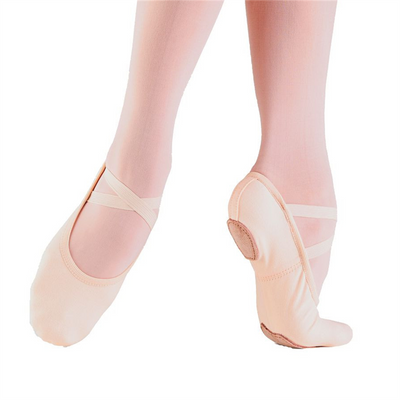 Child Bliss Stretch Canvas Ballet Shoe - Light Pink