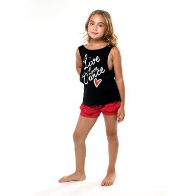 "Child ""Live Love Dance"" Low Back Tank"