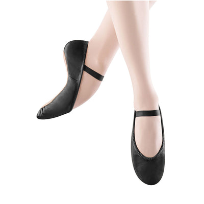 Adult Dansoft Leather Full Sole Ballet Shoe - Black