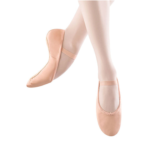 Child Dansoft Leather Full Sole Ballet Shoe - Pink