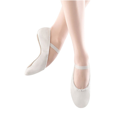 Child Dansoft Leather Full Sole Ballet Shoe - White