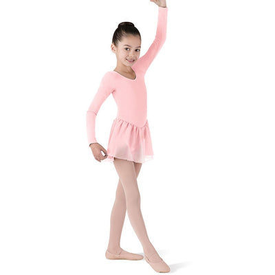 Child Basic Long Sleeve Dance Dress