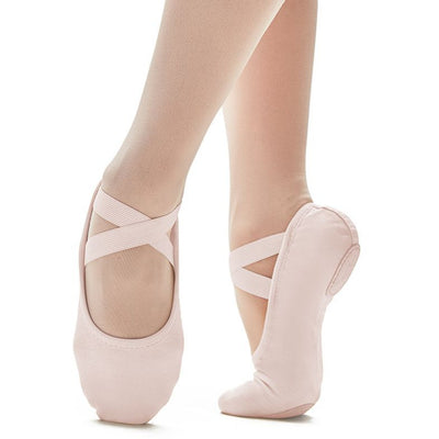 Adult Brio Pro Stretch Canvas Ballet Shoe - Light Pink