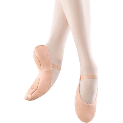 Child Dansoft Leather Split Sole Ballet Shoes - Pink