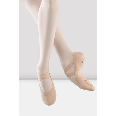 Adult Pro Elastic Split Sole Canvas Ballet Shoe - Pink