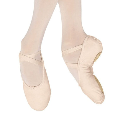 Adult Pump Split Sole Canvas Ballet Shoe - Pink