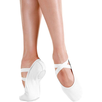 Child Bliss Canvas Ballet Shoe - White