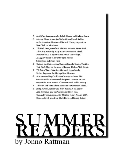 XXV 'Summer Readers' by Jonno Rattman