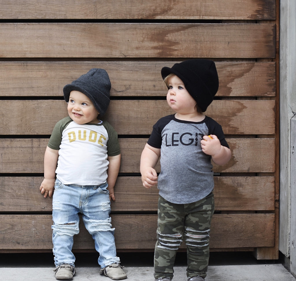 Black Visor Beanie For Kids - George Hats