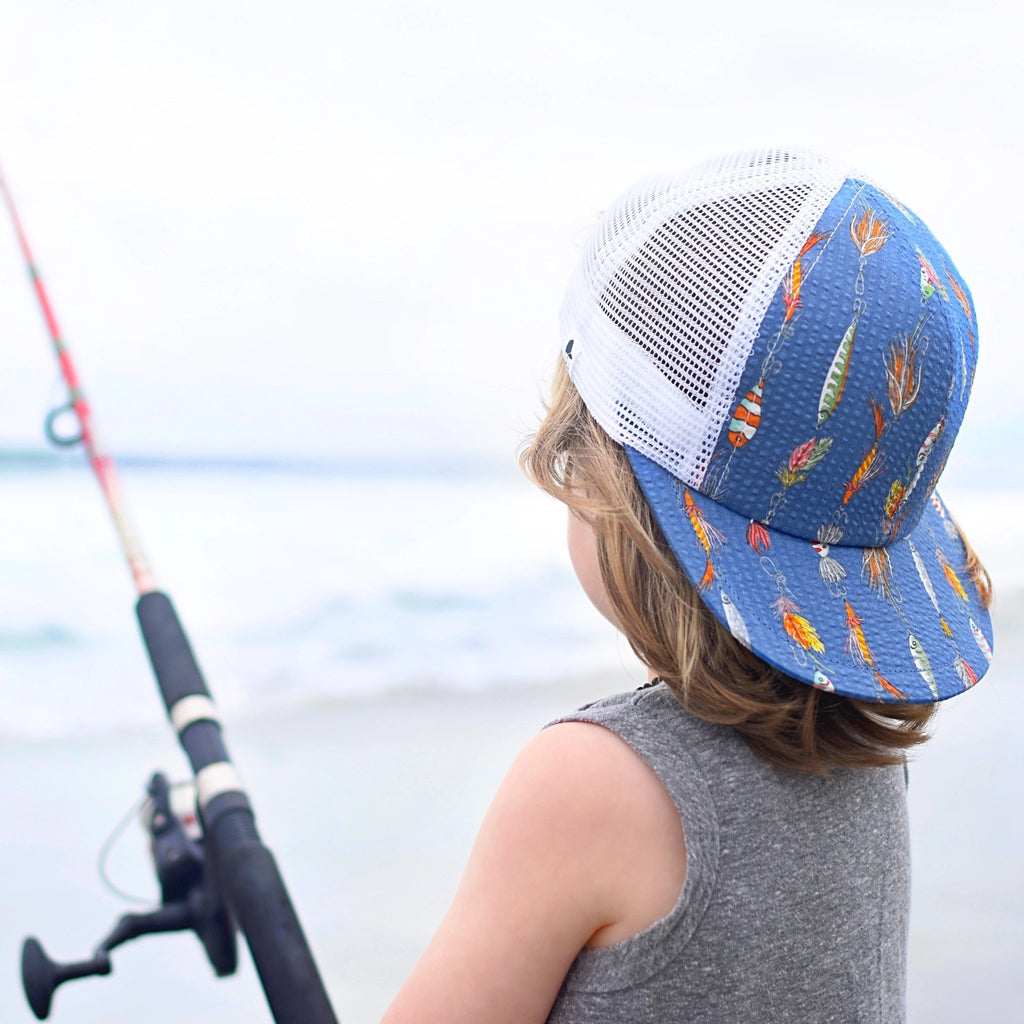 Blue Fishing Lure Trucker - George Hats