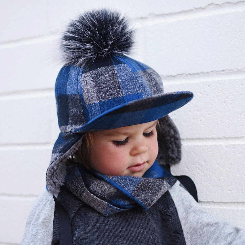 Blue Winter Pom Hat - George Hats