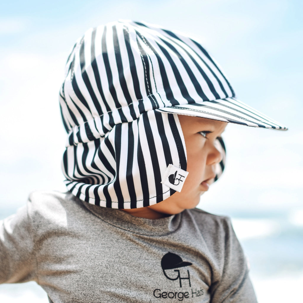 BW Stripe Sun Hat - George Hats
