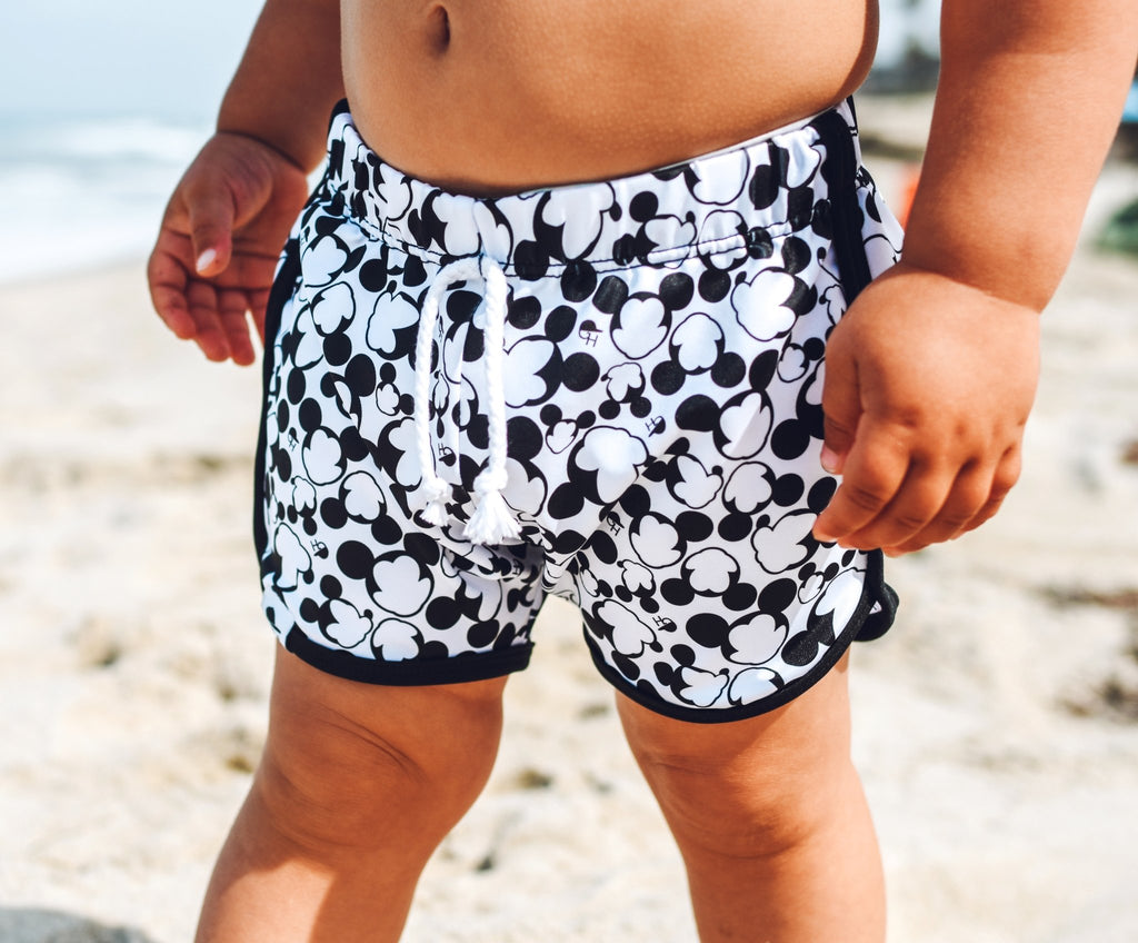 Club Mouse Track Swim Shorts - George Hats