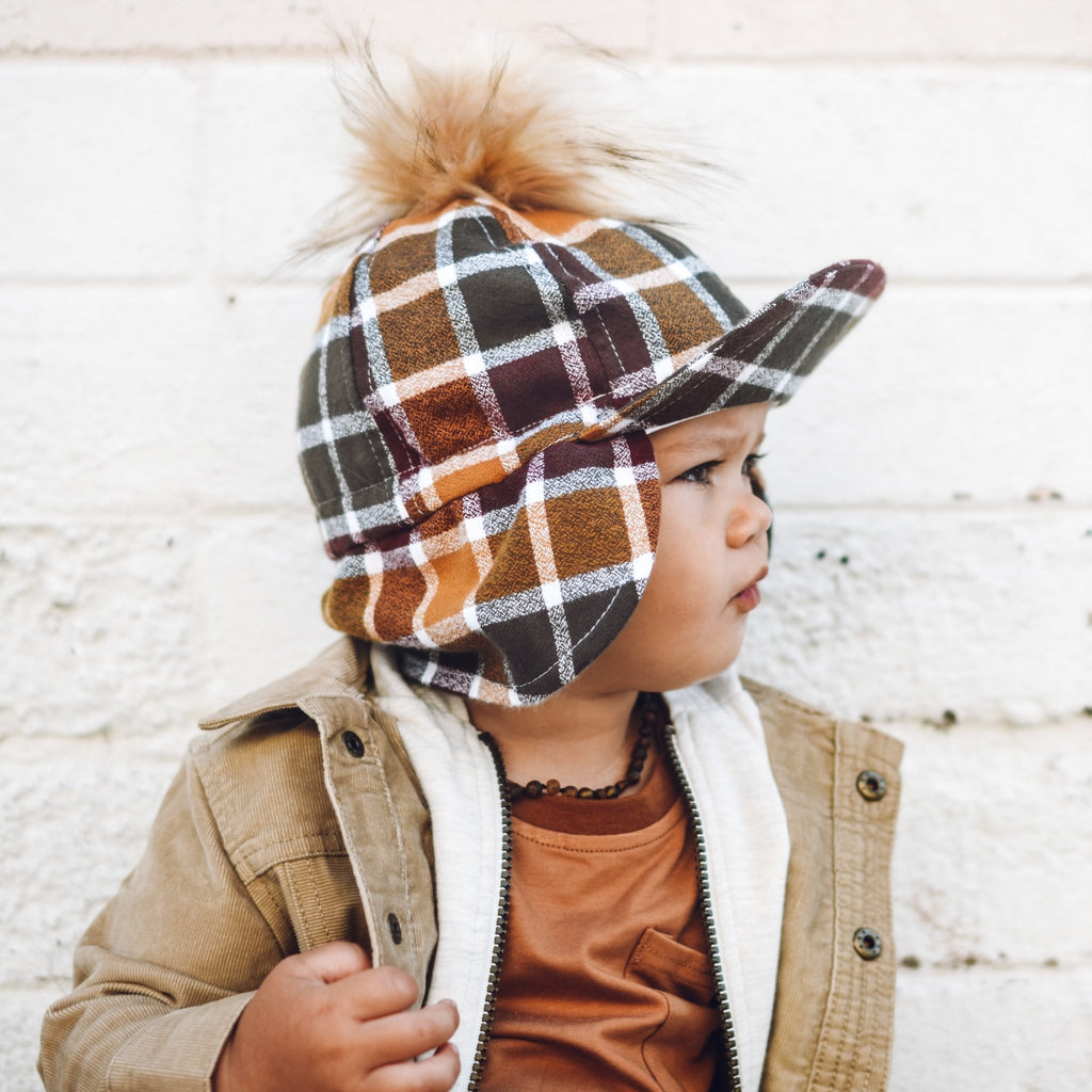 Fall Plaid Flannel Hat - George Hats