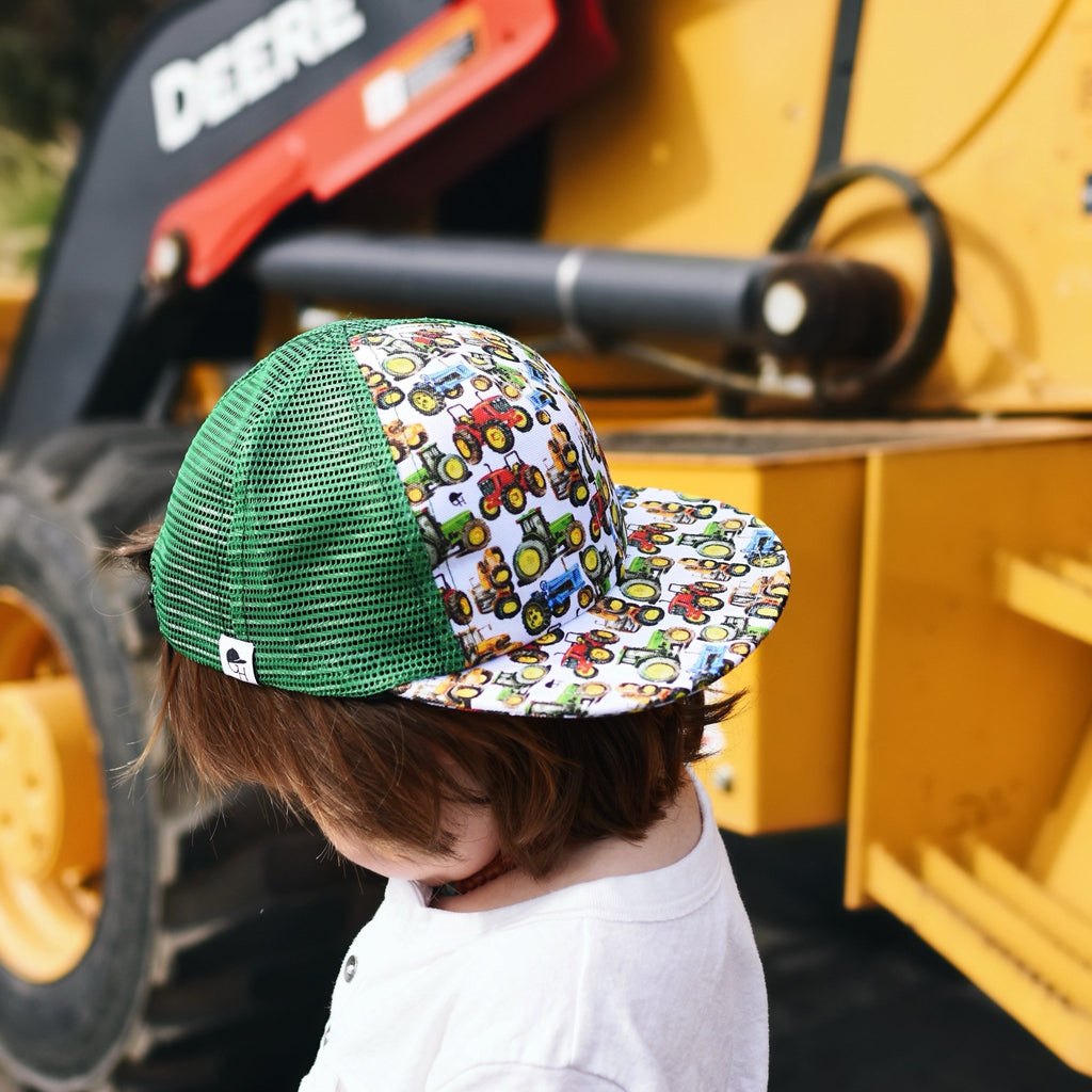 Green Mesh Tractor Trucker - George Hats