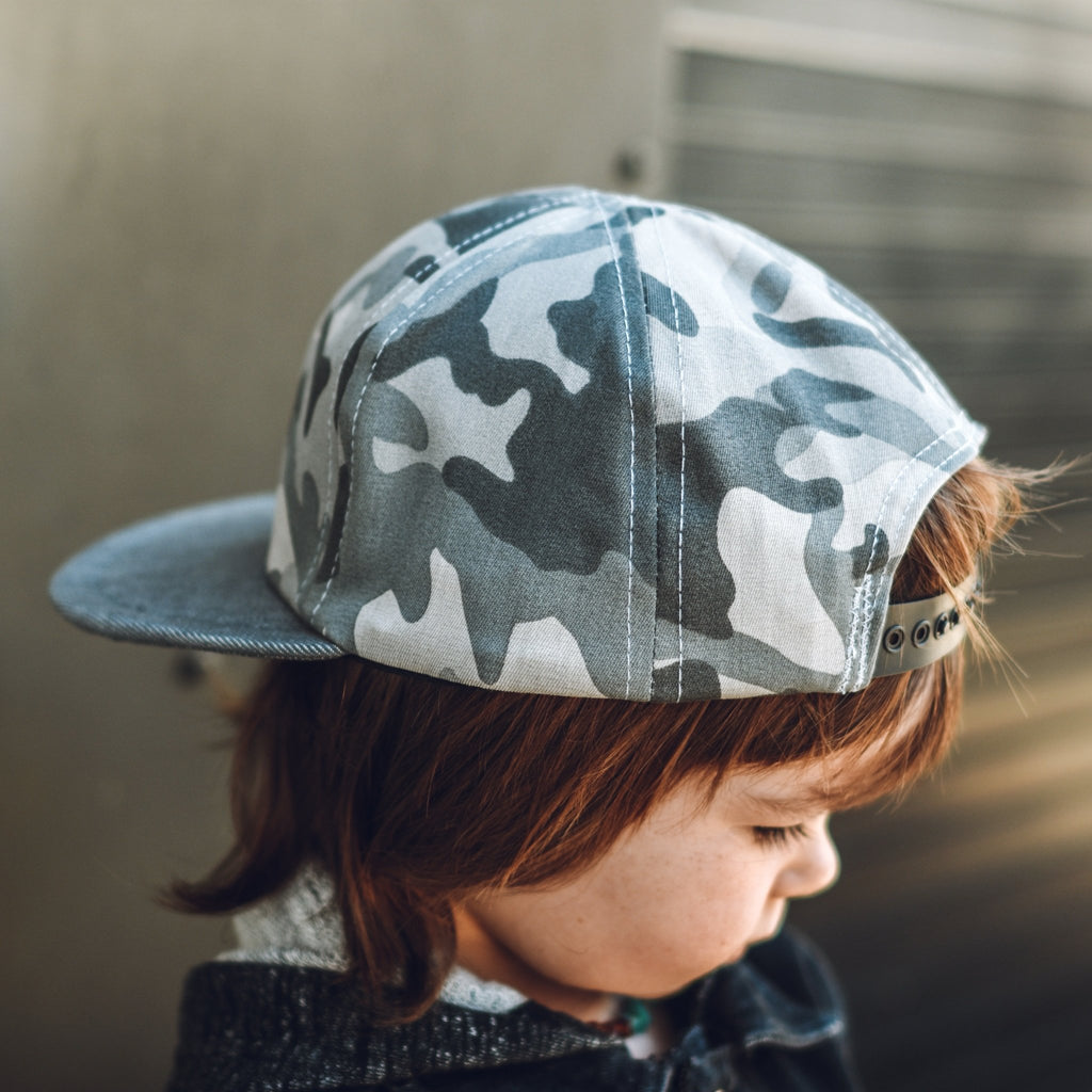 Grey Camo 6 Panel Trucker - George Hats