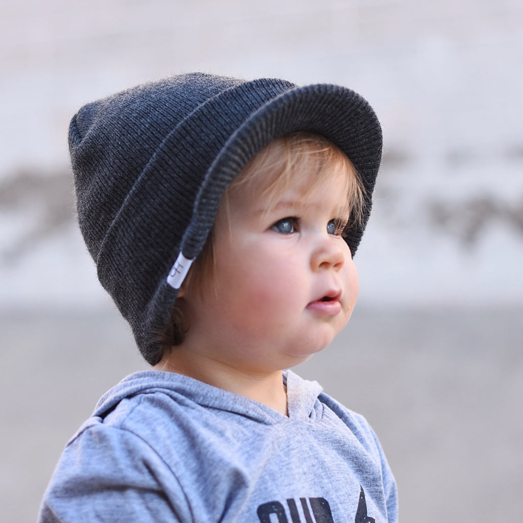 Grey Visor Beanie - George Hats