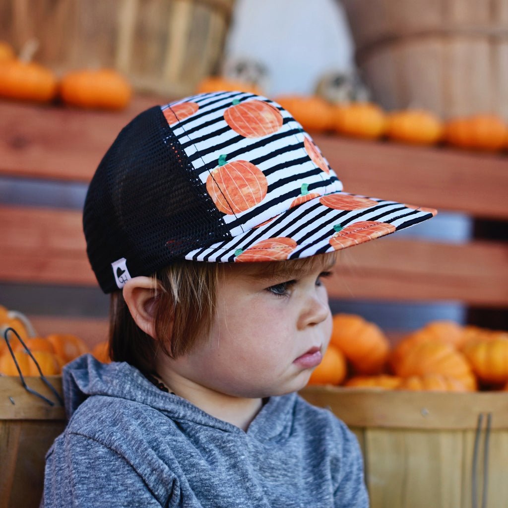 Pumpkin Stripe Trucker - George Hats