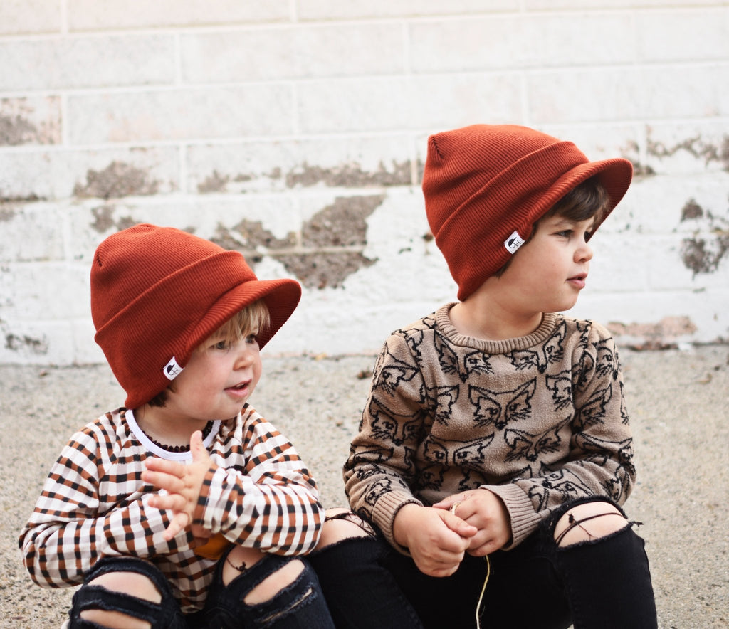 Rust Visor Beanie - George Hats