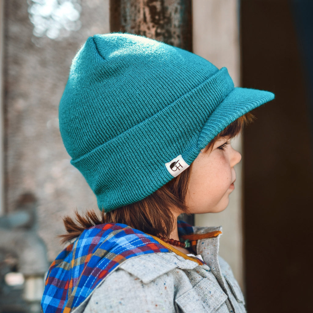Teal Visor Beanie - George Hats