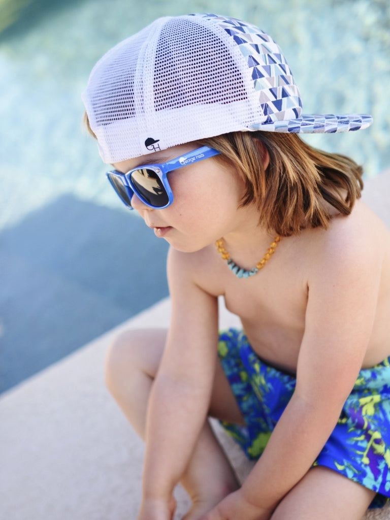 Turquoise Palm Swim Shorts - George Hats