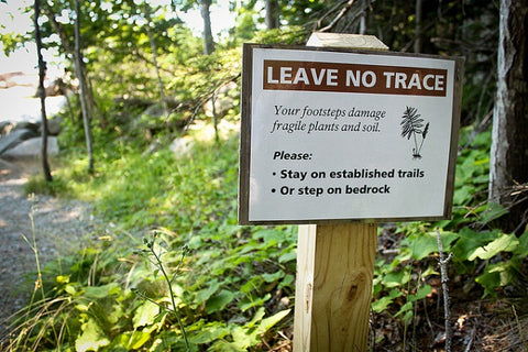 leave no trace sign