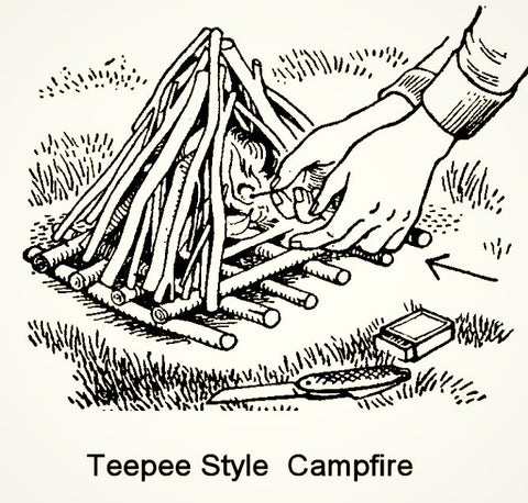 Image result for campfire teepee