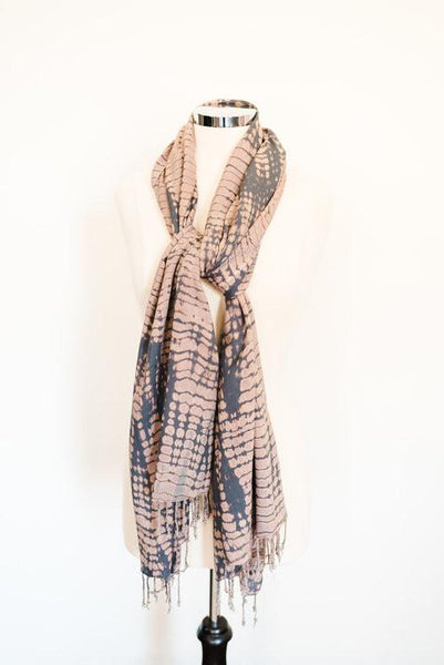 Maisha Angie Scarf Steel and Blue