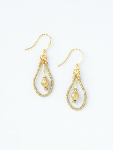 Drop Artillery Earrings Brass