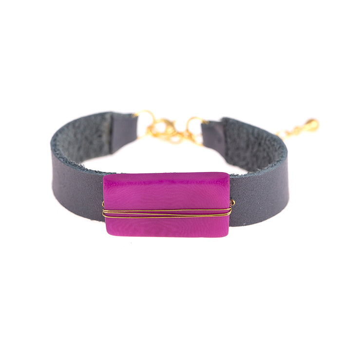 Astrid Bracelet Purple Wine